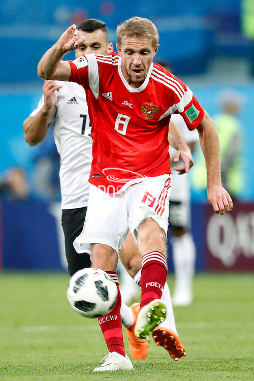 Russia Iury Gazinsky during the 2018 FIFA World Cup Russia, Group A football match between Russia and Egypt on June 19, 2018 at Saint Petersburg Stadium in Saint Petersburg, Russia - Photo Stanley Gontha / Pro Shots / ProSportsImages / DPPI