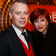 NLD/Amsterdam/20121221 - Premiere Wereldkerstcircus 2012, Chazia Mourali en partner Marc Schröder