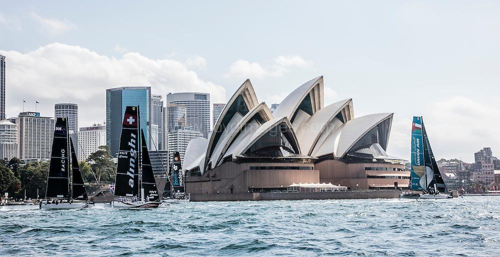 The Extreme Sailing Series 2016. Act 8.Sydney,Australia. 8th-11th December 2016. Credit - Jesus Renedo/Lloyd Images
