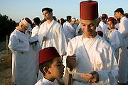 Israel, West Bank, samaritan raising of the Torah Scrolls ceremony on mount gerizim during Shavuot festival