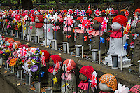 """Jizo at Zojo-ji -  """"Jizo"""" images and statues are popular in Japan as Bodhisattva who console beings awaiting rebirth as well as comfort for travelers. As such they are often found along roadsides, paths or even street corners."""