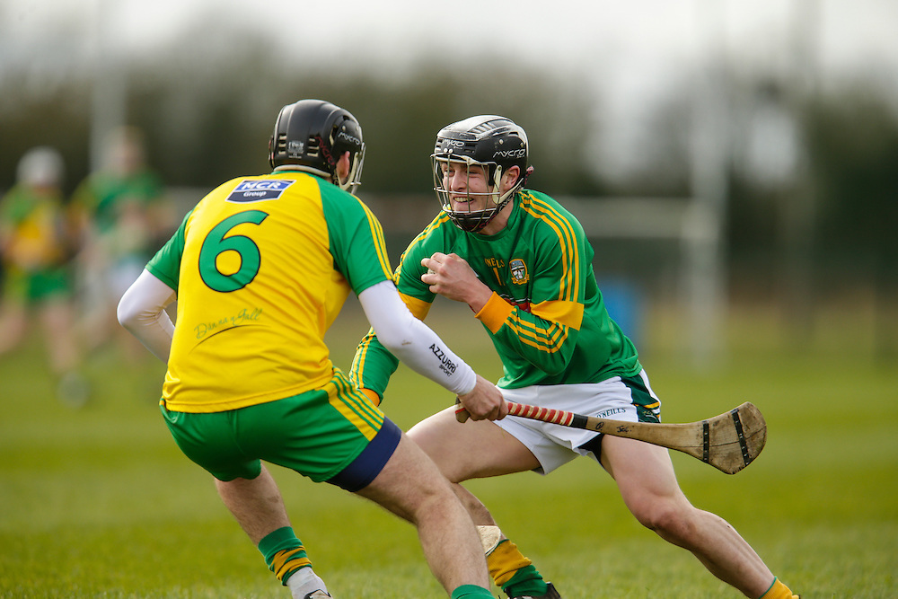 NHL Division 2B at Trim, 6th March 2016<br /> Meath vs Donegal<br /> Tom Clarke (Meath) & Joe Boyle (Donegal)<br /> Photo: David Mullen /www.cyberimages.net / 2016