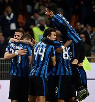 Esultanza gol di Marcelo Brozovic Inter 4-0. Celebration goal<br /> Milano 22-11-2015 Stadio Giuseppe Meazza - Football Calcio Serie A Inter - Frosinone. Foto Giuseppe Celeste / Insidefoto