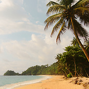 The sandy, jungle syrrounded beaches of southern São Tomé island.