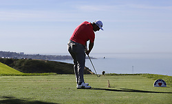 January 27, 2019 - San Diego, CA, USA - Jon Ram tees off on the 3rd hole during the fourth round of the Farmers Insurance Open at the Torrey Pines Golf Course in San Diego on Sunday, Jan. 27, 2019. (Credit Image: © K.C. Alfred/San Diego Union-Tribune/TNS via ZUMA Wire)