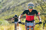 Annika Langvad climbs the Queen of the Mountain climb, having distanced her nearest rivals, during the 2017 Fairview Attakwas Extreme MTB Challenge. Photo by: Ewald Sadie/Dryland/SPORTZPICS