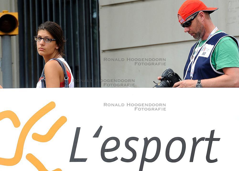 01-08-2010 ATLETIEK: EUROPEAN ATHLETICS CHAMPIONSHIPS: BARCELONA <br /> Mijn collega Olaf Kraak by the European Marathon - Press Media Pers<br /> ©2010-WWW.FOTOHOOGENDOORN.NL