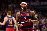 FC Barcelona Lassa's Tyrese Rice duringTurkish Airlines Euroleague match between Real Madrid and FC Barcelona Lassa at Wizink Center in Madrid, Spain. March 22, 2017. (ALTERPHOTOS/BorjaB.Hojas)