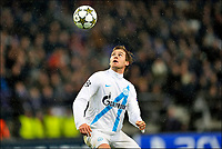 Fotball<br /> 06.11.2012<br /> Foto: PhotoNews/Digitalsport<br /> NORWAY ONLY<br /> <br /> BRUSSELS, BELGIUM - NOVEMBER 06: Nicolas Lombaerts of FC Zenit St-Petersburg pictured during the UEFA Champions League Group C match between RSC Anderlecht and FC Zenit St Petersburg at the Constant Vanden Stock Stadium on 06 november 2012 in Brussels, Belgium