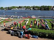 Berlin-Grünau. GERMANY.  GV's. General Views.  juniors preparing to race  at the Frühregatta,  Saturday 30/04/2011 [Mandatory Credit; Peter Spurrier/Intersport-images]