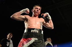 Robbie Turley Celebrates the win. - Photo mandatory by-line: Alex James/JMP - Mobile: 07966 386802 - 02/12/2014 - SPORT - Boxing - Bristol - Bristol City academy - Jamie Speight v Robbie Turley  - Boxing