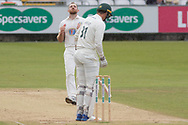 Ben Raine & Chris Wright during the Specsavers County Champ Div 2 match between Durham County Cricket Club and Leicestershire County Cricket Club at the Emirates Durham ICG Ground, Chester-le-Street, United Kingdom on 20 August 2019.
