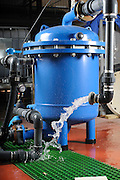 Water purification system. Water discharge