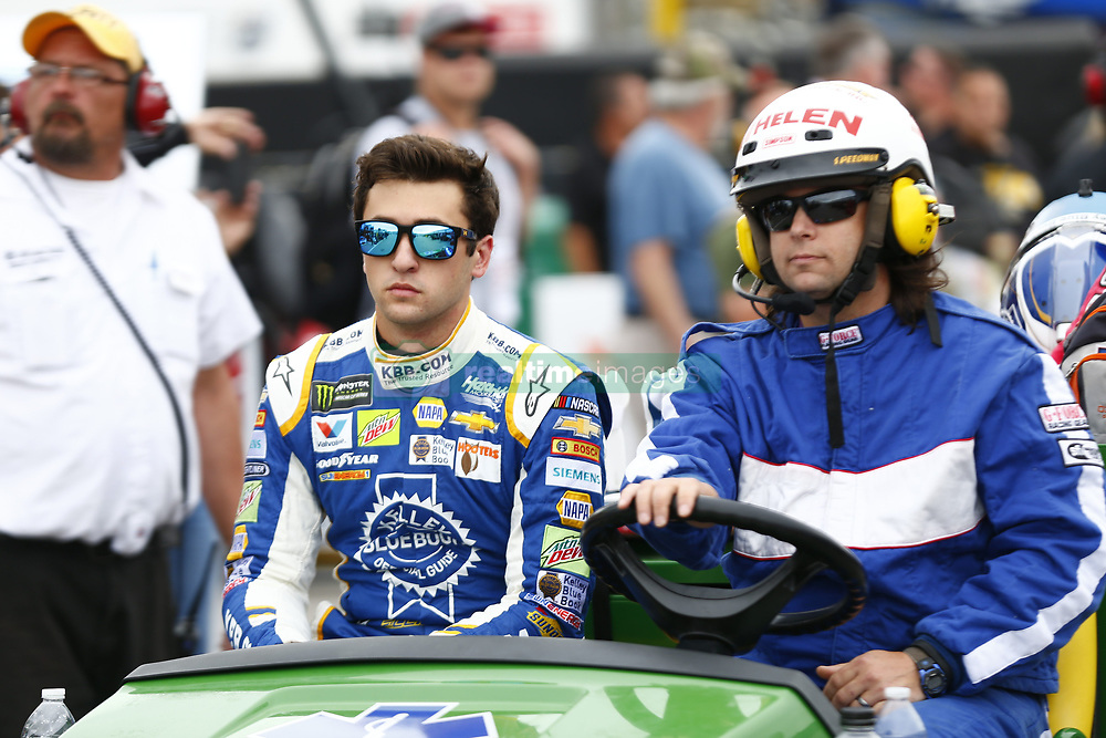 September 22, 2017 - Loudon, New Hampshire, United States of America - September 22, 2017 - Loudon, New Hampshire, USA: Chase Elliott (24) makes heavy contact with the wall during practice resulting in him having to go to infield care during practice for the ISM Connect 300 at New Hampshire Motor Speedway in Loudon, New Hampshire. (Credit Image: © Justin R. Noe Asp Inc/ASP via ZUMA Wire)