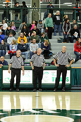 19 January 2016: IHSA Boys Basketball game during the McLean County Tournament at Shirk Center in Bloomington Illinois - El Paso Gridley Titans v Ridgeview Mustang boys quarterfinal