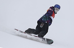 Norway's Marcus Kleveland in run 1 of qualification for Men's Snowboard Slopestyle the PyeongChang 2018 Winter Olympic Games in South Korea.