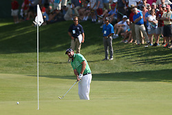 June 21, 2018 - Cromwell, Connecticut, United States - CROMWELL, CT-JUNE 21: Marc Leishman chips on to the 15th green during the first round of the Travelers Championship on June 21, 2018 at TPC River Highlands in Cromwell, Connecticut. (Credit Image: © Debby Wong via ZUMA Wire)