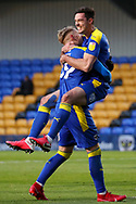 GOAL 2-2, AFC Wimbledon defender Ben Heneghan (22) during the EFL Sky Bet League 1 match between AFC Wimbledon and Bristol Rovers at Plough Lane, London, United Kingdom on 5 December 2020.