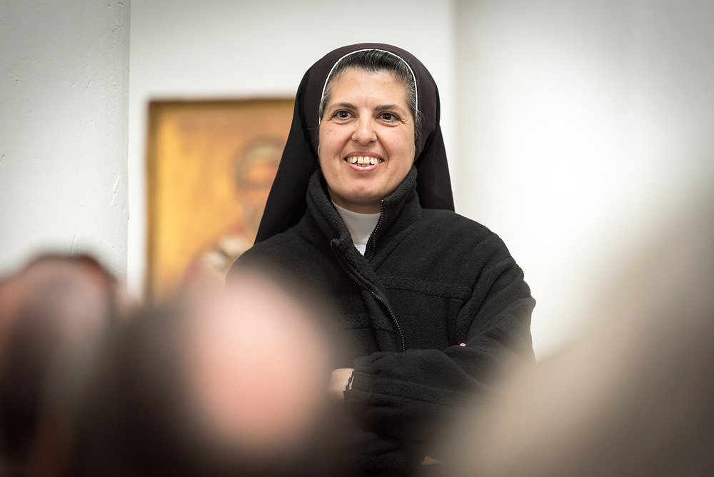 15 March 2019, Ma'alul: Ma'alul, a Palestinian village destroyed in the 1948 Arab-Israeli war, sees a visit by ecumenical accompaniers from the World Council of Churches Ecumenical Accompaniment Programme in Palestine and Israel. Here, sister Esther Maria from Stella Maris in Haifa.
