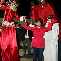 Toluca, México.- En los primeros minutos de este jueves 24 de mayo, Martha Hilda González Calderón, candidata del PRI a la alcaldía de  Toluca arranco su campaña proselitista ante más de 800 seguidores. Agencia MVT / José Hernández
