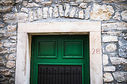 Green door, Skradin, Dalmatia, Croatia