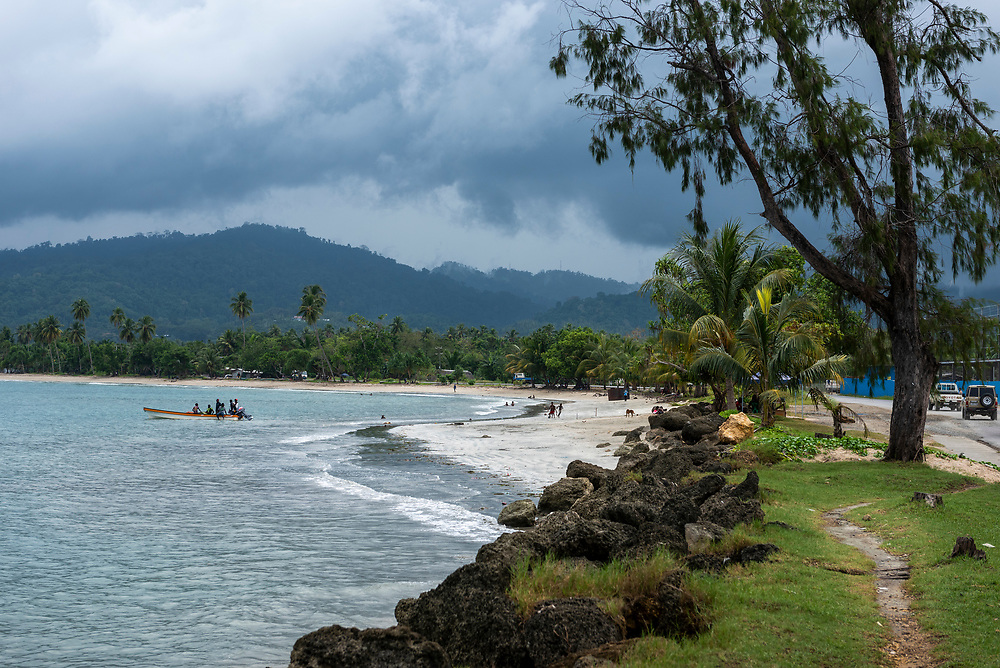 Landscape in the coastal city of Wewak, capital of Papua New Guinea's East Sepik Province.<br /><br />(July 21, 2017)