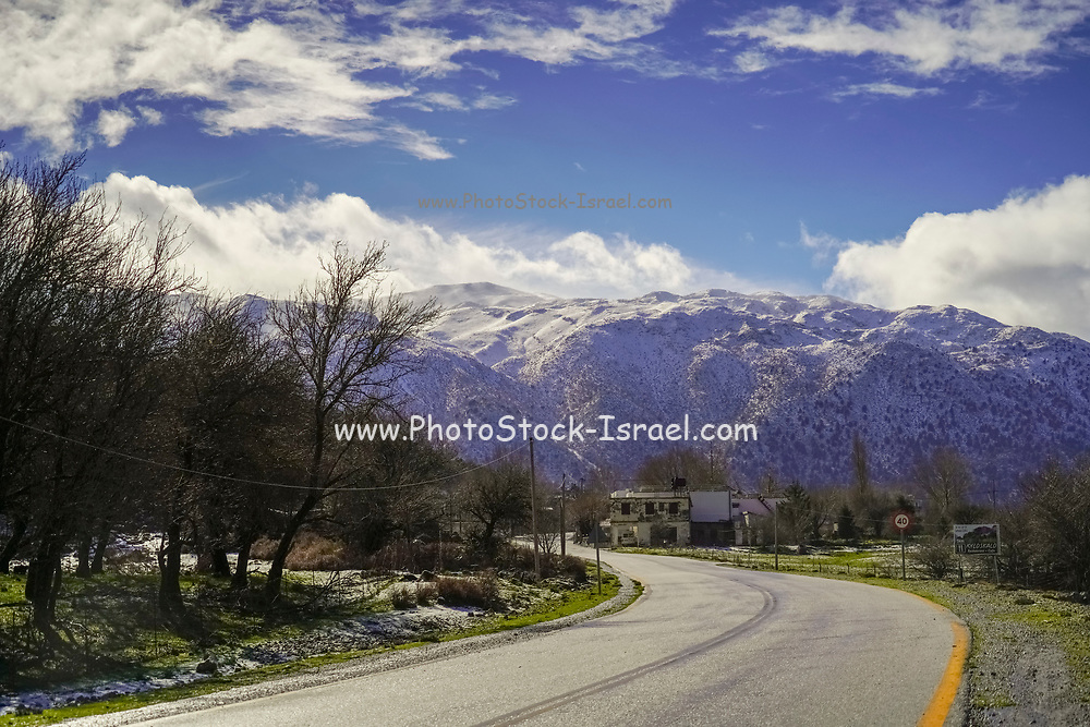 winding Mountain road. Traveling concept. Photographed in Crete, Greece