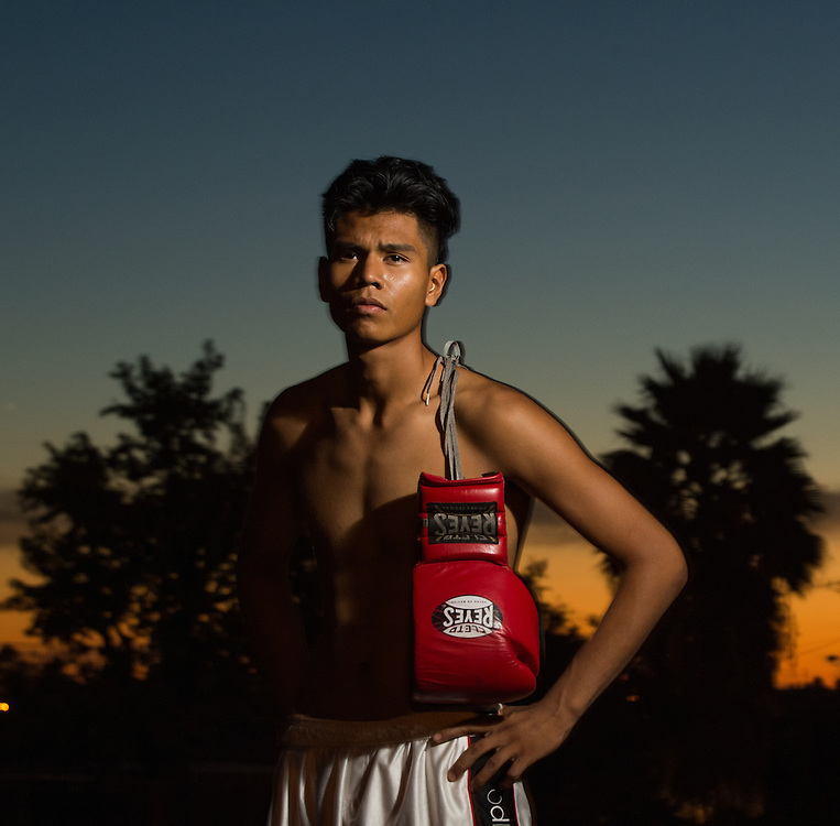 George from the La Habra BoxingClub poses for a quick afternoon portrait session on Thursday November 3 2016