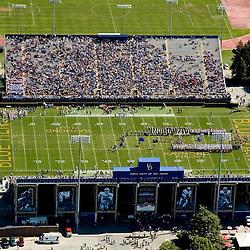 Aerial view of the Univ of Delaware Blue Hens Football, game Delaware State Hornets<br /> on September 19, 2009