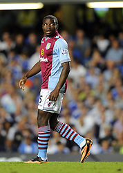 "Aston Villa's Jores Okore  - Photo mandatory by-line: Joe Meredith/JMP - Tel: Mobile: 07966 386802 21/08/2013 - SPORT - FOOTBALL - Stamford Bridge - London - Chelsea V Aston Villa - Barclays Premier League - EDITORIAL USE ONLY. No use with unauthorised audio, video, data, fixture lists, club/league logos or ""live"" services. Online in-match use limited to 45 images, no video emulation. No use in betting, games or single club/league/player publications"