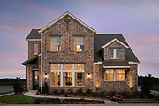 Residential 2 story home photography for custom home builder. Texas Architectural Photographer, Dallas.