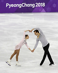 February 15, 2018 - Pyeongchang, KOREA - Annika Hocke and Ruben Blommaert of Germany compete in pairs free skating during the Pyeongchang 2018 Olympic Winter Games at Gangneung Ice Arena. (Credit Image: © David McIntyre via ZUMA Wire)