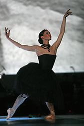 """Ballet-dancer Regina Krizaj at """"goodbye"""" event of Slovenian professional sports dance couple Andrej Skufca and Katarina Venturini, named Infinity is Eternity (Neskoncnost je vecnost), on March 2, 2008, in Cankarjev dom, Ljubljana, Slovenia.  (Photo by Vid Ponikvar / Sportal Images)/ Sportida)"""