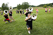 The Oregon Marching Band practices in Suttons Bay, Michigan on July 11, 2008.