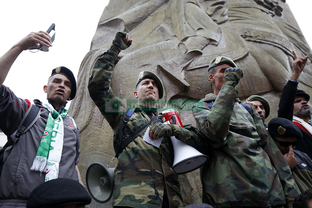 May 3, 2019 - Algiers, Algeria - Algerians protest at a demonstration for the departure of the Algerian regime in Algiers, Algeria on May 3, 2019. The protests in Algeria that began in early February 2019, after the former president announced his candidacy for a fifth presidential term , continue to call for a radical change in the system  (Credit Image: © Billal Bensalem/NurPhoto via ZUMA Press)