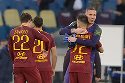 January 19, 2019 - Rome, Italy - Robin Olsen, Stephan El Shaarawy during the Italian Serie A football match between A.S. Roma and F.C. Torino at the Olympic Stadium in Rome, on january 19, 2019. (Credit Image: © Silvia Lore/NurPhoto via ZUMA Press)