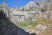 St Govan's Chapel, Pembrokeshire national park, Wales