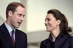 Prince William (left) and his fiancee Kate Middleton are during a visit to Darwen Aldridge Community Academy in Darwen, Lancashire.