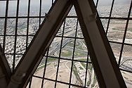 Iran , Tehran. elevated view of Tehran, view from Milah television tower, / Urban highway/ Teheran vue aerienne et autoroutes urbaines