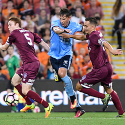 BRISBANE, AUSTRALIA - NOVEMBER 19: Filip Holosko of Sydney controls the ball during the round 7 Hyundai A-League match between the Brisbane Roar and Sydney FC at Suncorp Stadium on November 19, 2016 in Brisbane, Australia. (Photo by Patrick Kearney/Brisbane Roar)