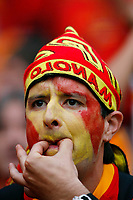Photo: Glyn Thomas.<br />Spain v France. Round 2, FIFA World Cup 2006. 27/06/2006.<br /> A Spanish fan whistles his disapproval.