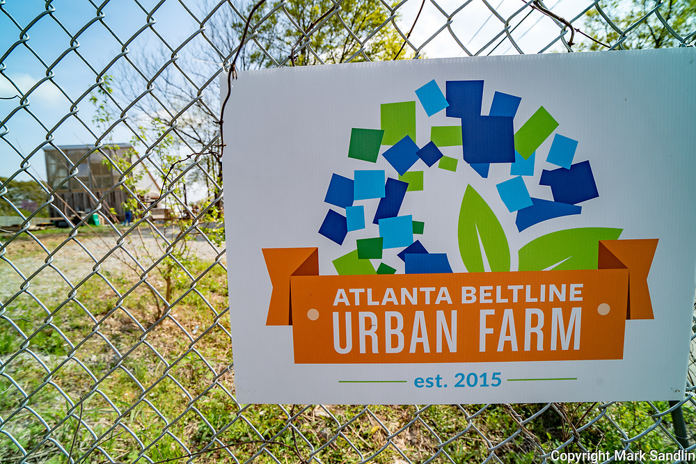 Westside Beltline runs behind homes, industrial parks and old warehouses sprouting business. One such business is the Atlanta Beltline Urban Farm. The Urban Farm sells seedlings and fresh vegtables.