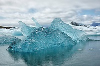 Icebergs at Jökulsárlón, Iceland.
