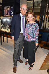 FRED GOETZEN and LARA MINGAY at a party to celebrate the opening of Mappin & Webb's Flagship Regent Street Boutique at 132 Regent Street, London on 28th June 2016.