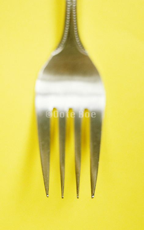 still life of metal fork