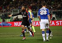 Fotball<br /> Italia<br /> Foto: Insidefoto/Digitalsport<br /> NORWAY ONLY<br /> <br /> esultanza di robinho dopo il gol<br /> <br /> 27.11.2010<br /> Serie A 2010/2011<br /> Sampdoria v Milan