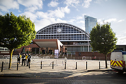 © Licensed to London News Pictures . 26/05/2019. Manchester, UK. GV of the Manchester Central Convention Centre as the count takes place . The count for seats in the constituency of North West England in the European Parliamentary election , at Manchester Central convention centre . Photo credit: Joel Goodman/LNP