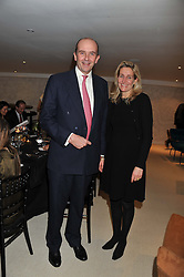 A dinner hosted by Ruinart Champagne in honour of David Linley was held at Linley, 60 Pimlico Road, London SW1 on 8th December 2011.<br /> NICK & MILLIE WENTWORTH-STANLEY