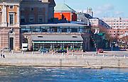 The Operakallaren gastronomic restaurant on the back side of the Opera House with a view over Strommen Stockholms Strom Stockholm, Sweden, Sverige, Europe