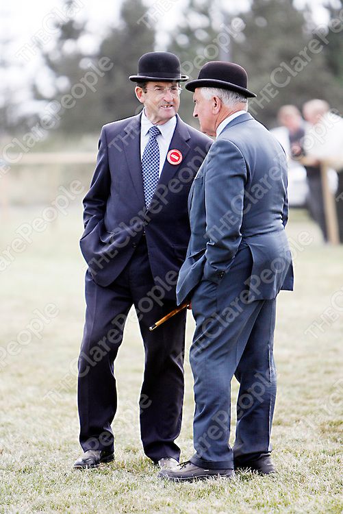The judges take a break inbetween classes at the Mullagh show on Sunday.<br /><br /><br /><br />Photograph by Yvonne Vaughan.
